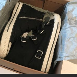 ASH Italian Belted Canvas Sneakers in Box